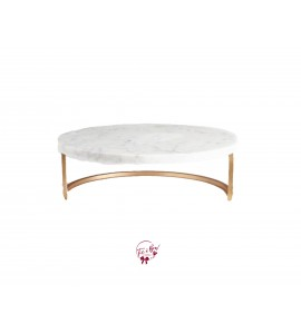 Marble Cake Stand (Medium): 12 Inches Wide x 4 Inches Tall