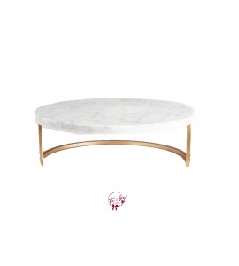Marble Cake Stand (Large): 13.5 Inches Wide x 5.5 Inches Tall