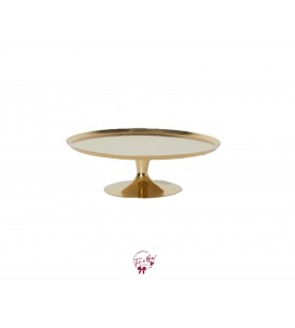 Gold Cake Stand: 9.5 Inches Wide x 3 Inches Tall