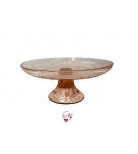 Pink: Blush Pink Vintage Cake Stand: 10 Inches Wide x 4 Inches Tall