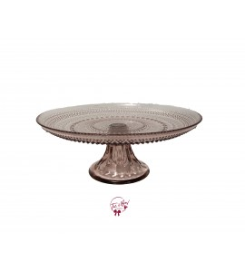 Purple: Amethyst Hobnail Cake Stand: 10.5 Inches Wide x 4 Inches Tall