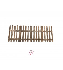Fence: Rustic Wooden Fence (4 panels)