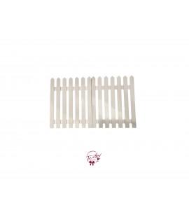 Fence: White Fence (2 panels)