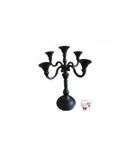 Candelabra: 5 Candle Holder Black