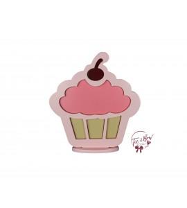 Cupcake Silhouette: Light Pink