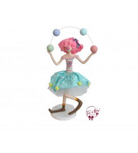 Clown: Juggler Clown Girl Pastel Color