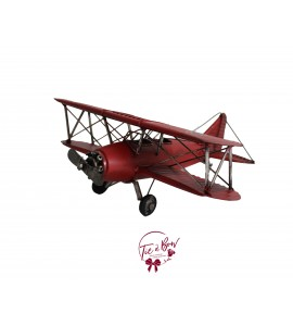 Airplane: Large Vintage Red Military Airplane