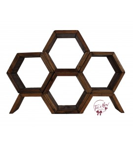 Beehive Hexagonal Wooden Stand