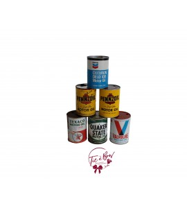 Can: Vintage Motor Oil Cans Set of 6