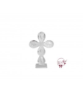 Cross: Round Shaped Crystal Cross