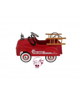 Fire Truck: Small Vintage Metal Fire Truck with Bell