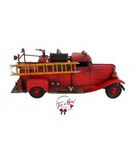 Fire Truck: Vintage Metal Fire Truck