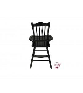 High Chair: Black Vintage High Chair