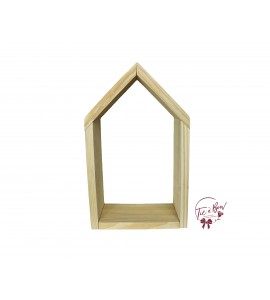 Niche House: Large Wooden With White Background