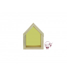 Niche House: Small Wooden With Yellow Background