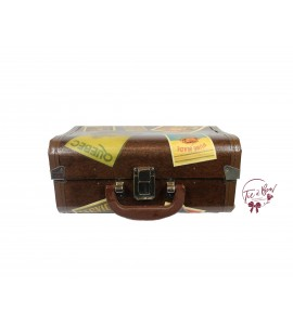 Luggage: 12 Inches Wide Vintage With Stickers