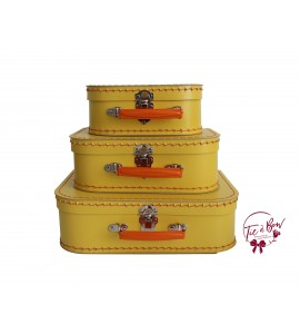 Luggage: Yellow Retro Set of 3