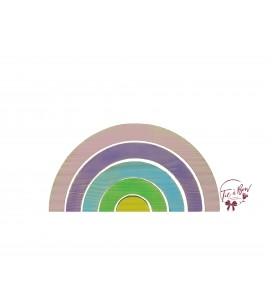 Rainbow: 12 Inches Wide Distressed Rainbow in Silhouette