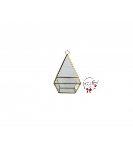 Terrarium: 7 Inches Tall Gold Pyramid