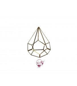 Terrarium: Diamond Teardrop Shape Gold