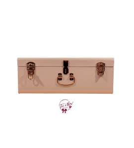 Trunk: Large Blush Pink and Rose Gold Metal Trunk
