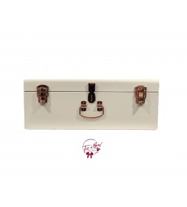 Trunk: Large White and Rose Gold Metal Trunk