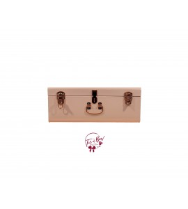 Trunk: Medium Blush Pink and Rose Gold Metal Trunk