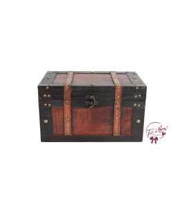 Trunk: Large Vintage Trunk with Flat Top