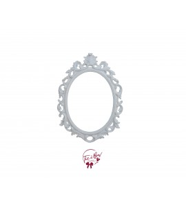 Frame: White Open Cut Oval Scatter Frame