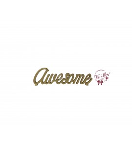 Word Awesome in Gold