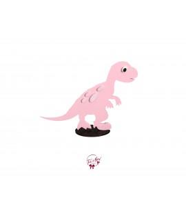 Dinosaur: Pink Pachycephalosaurs Dinosaur in Silhouette