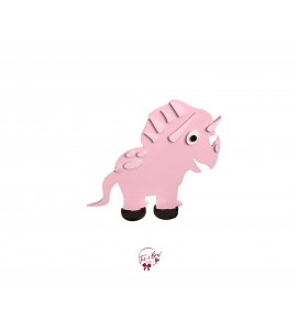 Dinosaur: Pink Triceratops in Silhouette