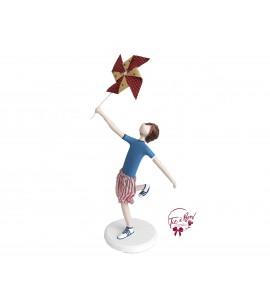 Boy Holding a Pinwheel