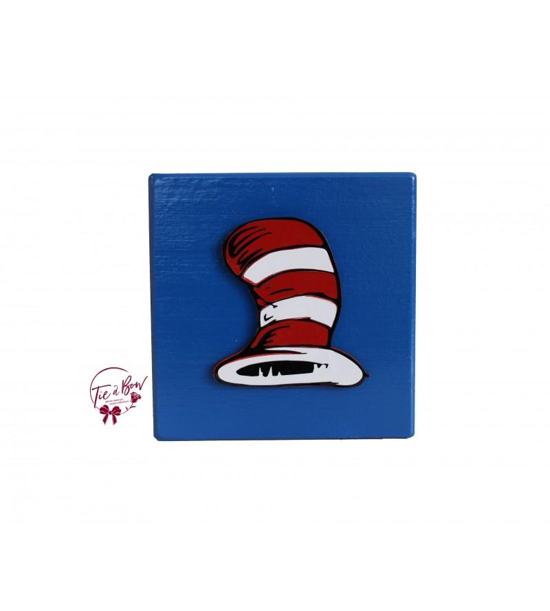 Dr. Seuss Riser: 6 Inches Blue Hat