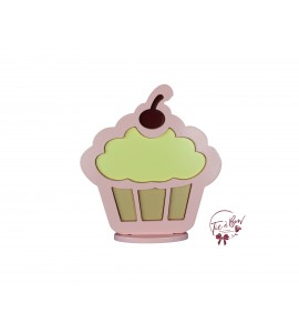 Cupcake Silhouette: Light Yellow