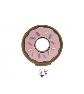 Light Pink Donut in Silhouette