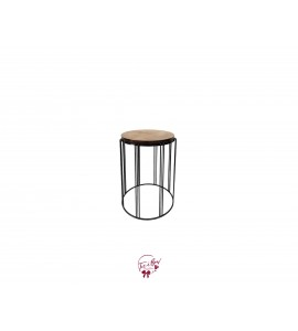 Accent Table: Stripped Metal Legs Table