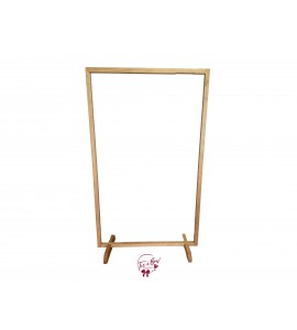 Backdrop: Light Wood Rectangular Frame Backdrop