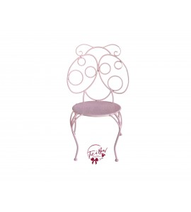 Chair: Light Pink Ladybug Child's Chair