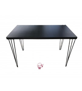 Table: Black Modern Table (Large)