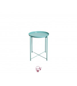 Accent Table: Blue Removable Tray Accent Table