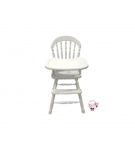 High Chair: White Vintage High Chair