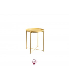 Accent Table: Light Yellow Removable Tray Accent Table