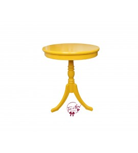 Accent Table: Medium Yellow 3-Footed Round Table