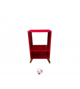 Accent Table: Red Shelf Accent Table
