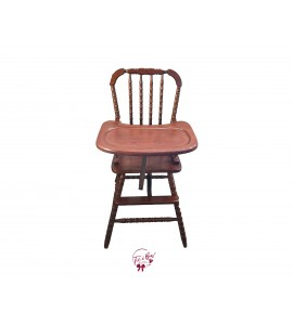 High Chair: Wooden High Chair