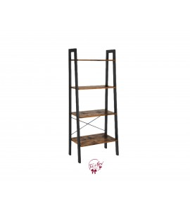 Ladder Shelf: Wood Shelves with Metal Legs