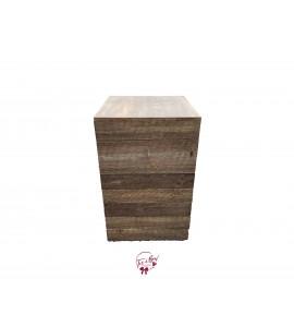 Pedestal: Rustic Wood Pedestal (Tall)