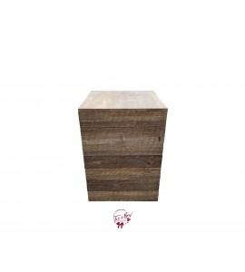 Pedestal: Rustic Wood Pedestal (Medium)