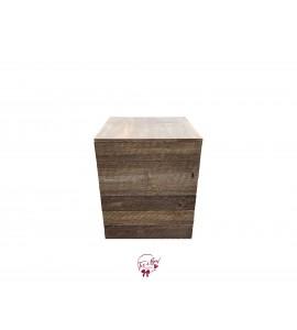 Pedestal: Rustic Wood Pedestal (Short)